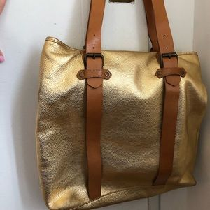 Cynthia Rowley Bags - Cynthia Rowley gold leather oversized tote, New
